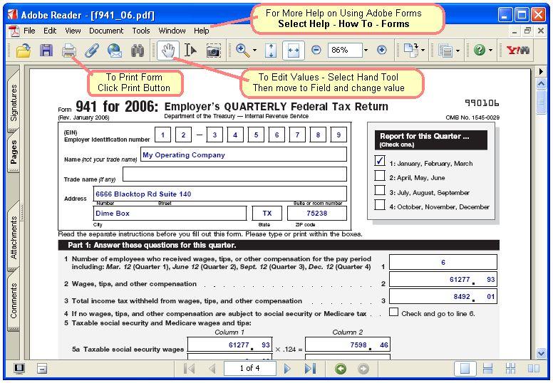 Irs Form 941